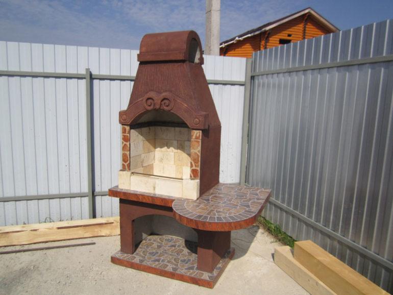 Мангал из бетона фото