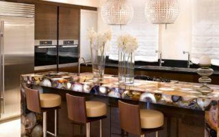 Барные стойки для кухни: примеры дизайна интерьеров, разновидности, фото
