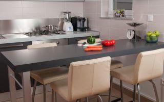 Маленькие кухни с барной стойкой: секреты обустройства и планировки