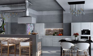 Кухня-гостиная в стиле лофт: идеи для оформления интерьера с фото