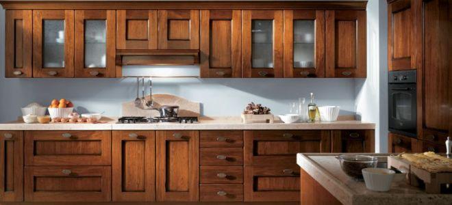 Фасады из дерева для кухни – плюсы и минусы деревянных мебельных фасадов