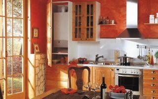Дизайн кухни с газовым котлом – как спрятать или закрыть котел, фото, тонкости монтажа