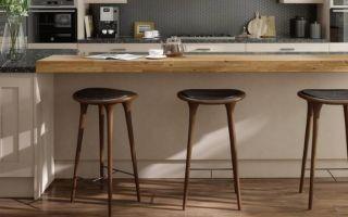 Высокие барные стулья для кухни — атмосфера бара в кухонном интерьере