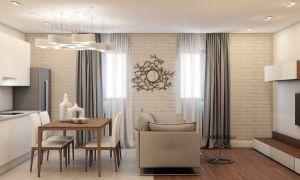 Гостиная совмещенная с кухней в хрущевке: фото интерьеров и варианты объединения комнат