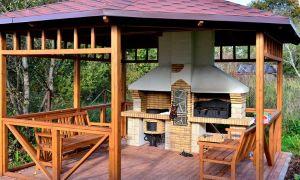Летняя кухня с беседкой – фото, виды, тонкости строительства