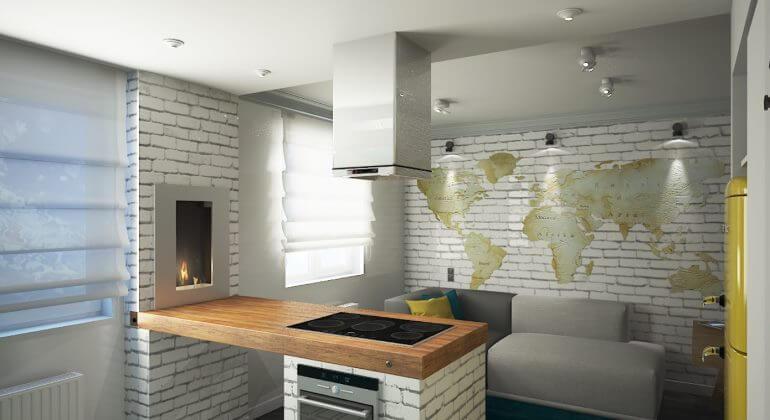 гостиная кухня в стиле лофт фото интерьеров идеи дизайна
