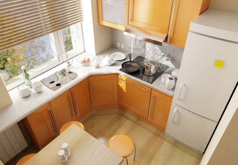 В небольшой кухне непросто совместить функциональность и привлекательность