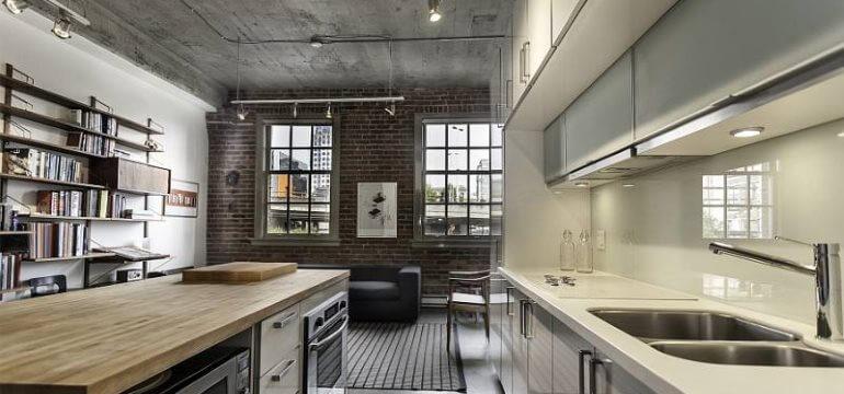 Дизайн кухни в лофт-стиле