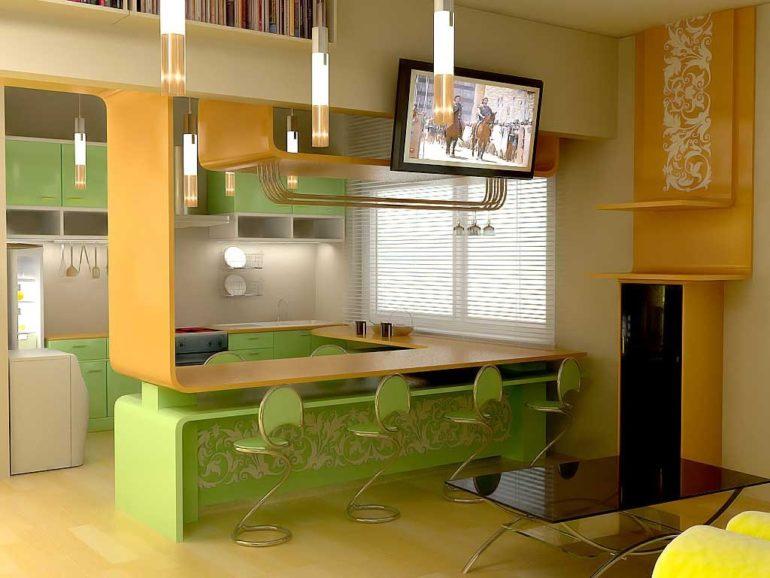 Оригинальные барные стулья для современной кухни