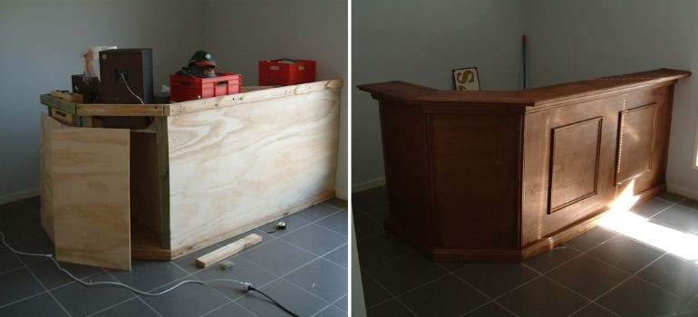 Установка декоративных элементов и отделка поверхности
