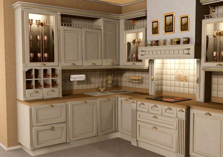 Классическая кухня смотрится дорого и в ней чувствуется добротность и эстетика