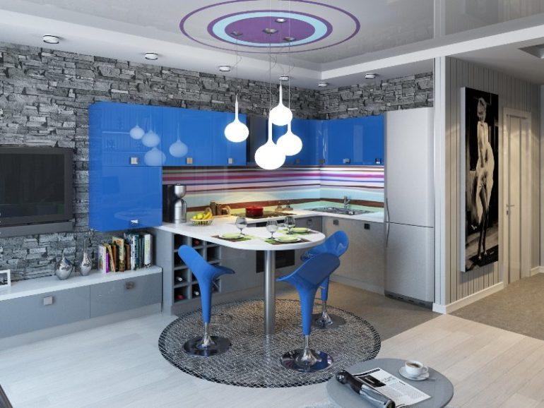 Стильный проект современной кухни