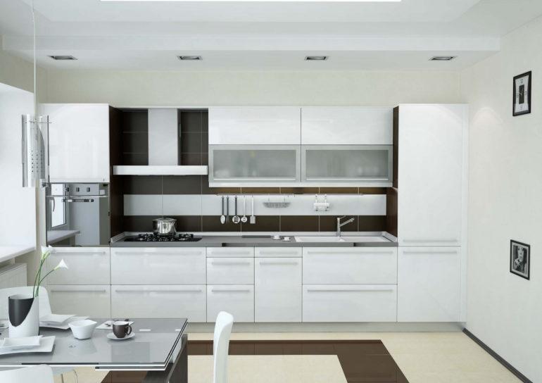 Кухонный гарнитур линейной конфигурации