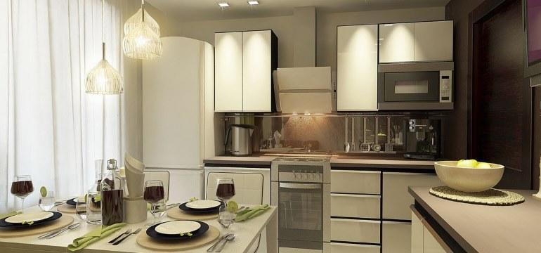 Дизайн кухни площадью 9 кв. метров