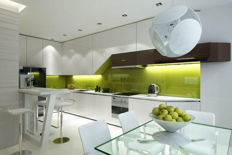 Подсветка рабочей зоны и стеклянный стол