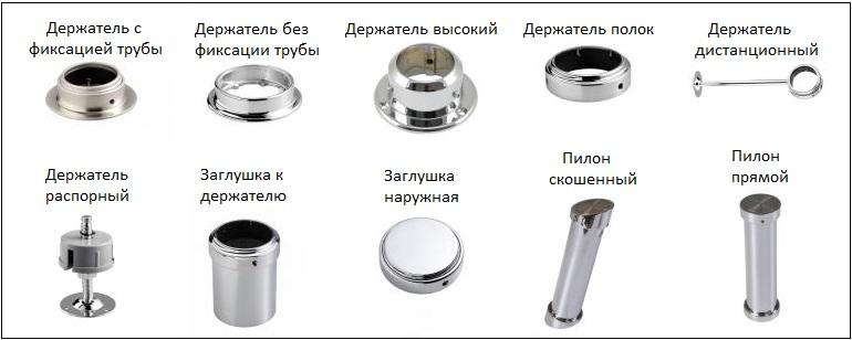 Сама барная труба и всё что на ней закрепляется с помощью различных держателей