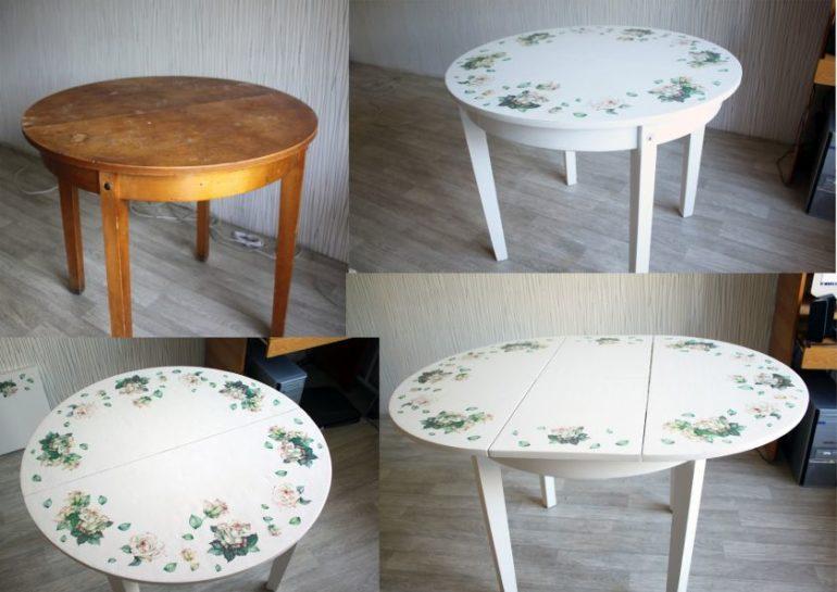 Если вам не хочется менять свой привычный добротный стол, просто обновите его