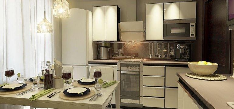 Дизайнерские идеи на кухне 4 на 3 метра