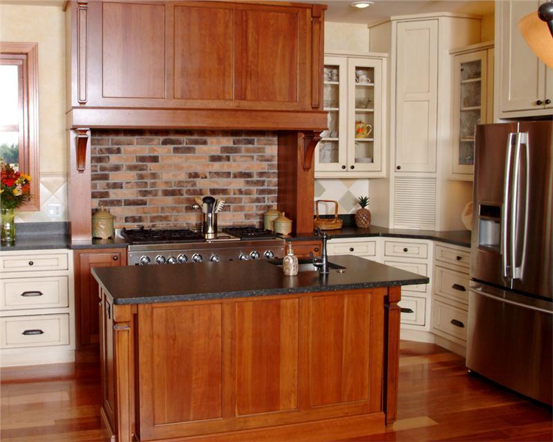 Островок посередине кухни – барная стойка, совмещенная с рабочим столом
