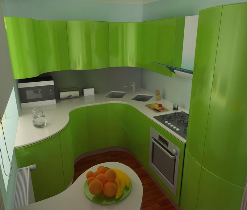 Угловая или С-образная планировки добавят рабочие поверхности и сделают кухню более функциональной
