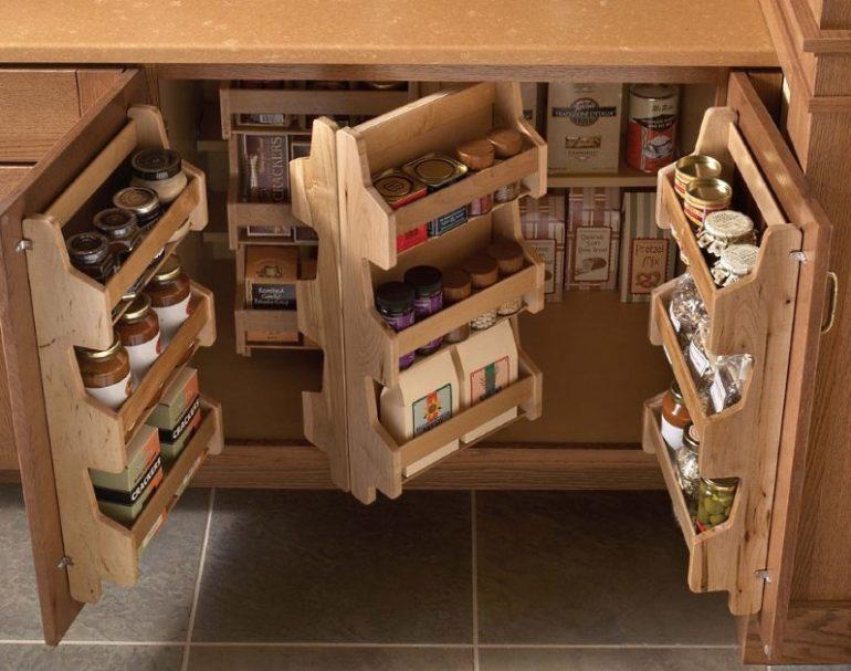 Удобное хранение кухонной утвари