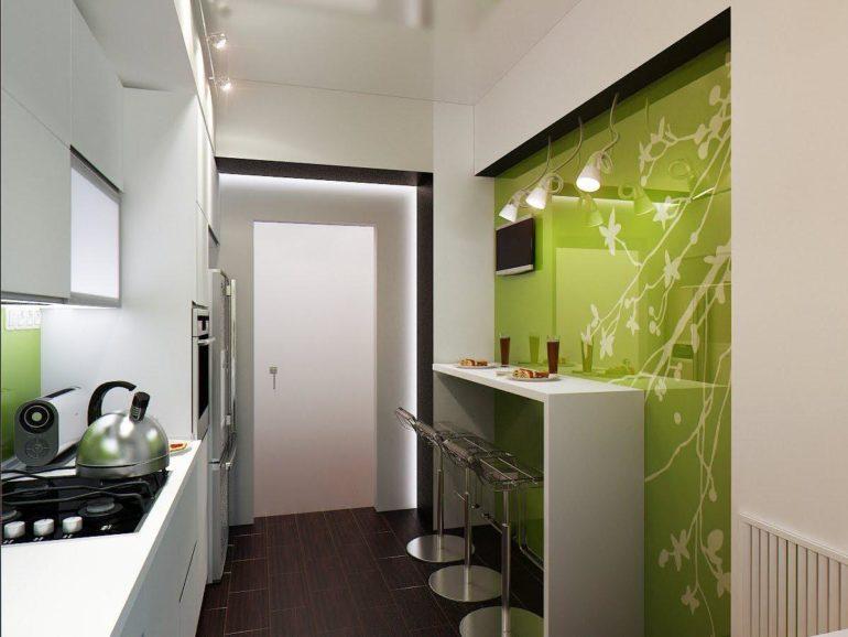 Удачное цветовое решение маленькой кухни