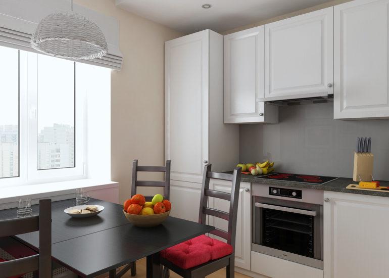 Профессиональные дизайнеры уверены: обеденный стол должен быть центровой фигурой даже в маленькой кухне
