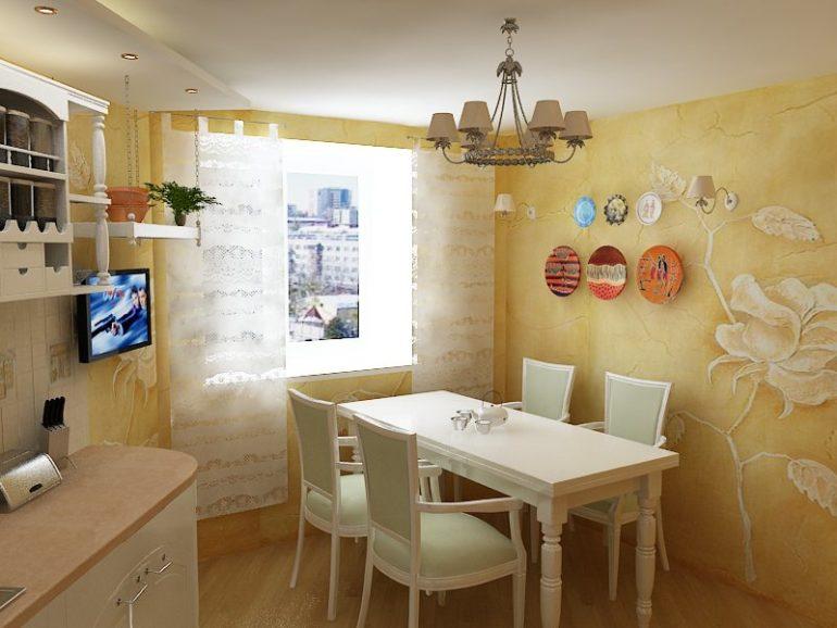 Декоративная штукатурка – хороший и удобный материал для отделки кухонных стен, но создание такого покрытия займет немало времени и сил