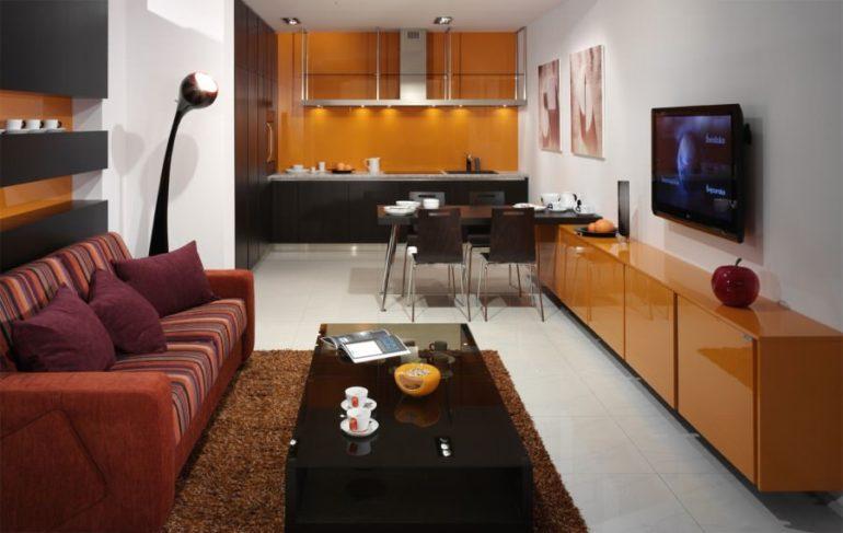 Кухня-гостиная для большого пространства