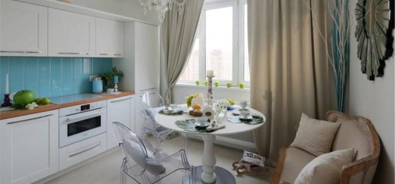 Кухня-гостиная площадью 12 кв. метров
