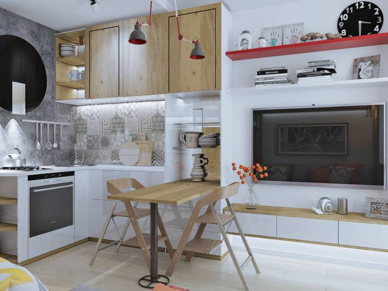 На кухне в 12 кв. метров можно разместить всё необходимое и даже создать свой оригинальный интерьер