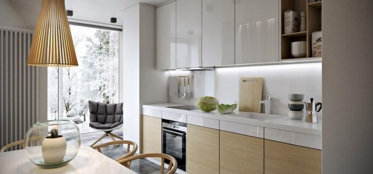 Дизайн кухни-гостиной площадью 13 кв. метров