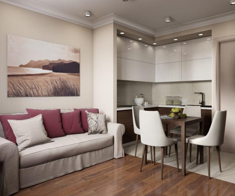 кухня-гостиная 13 кв.м дизайн фото