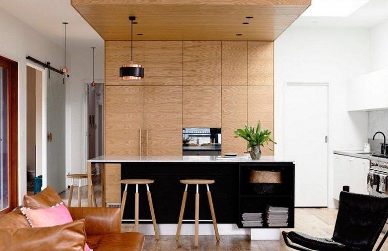 Вариант интерьера в стиле модерн – идеальная гармония светло коричневого цвета с белыми стенами