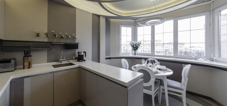 Оформление кухни на балконе или на лоджии