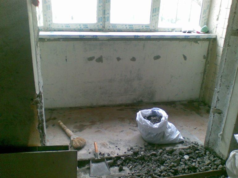 Будьте готовы к грязным демонтажным работам