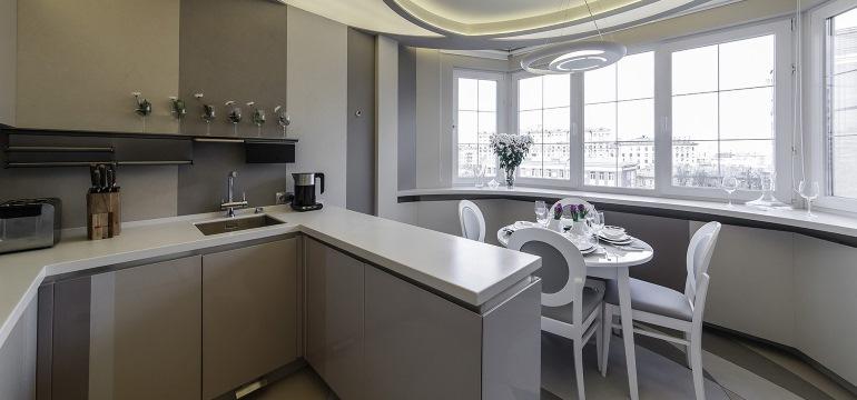 Кухня с балконом или с лоджией
