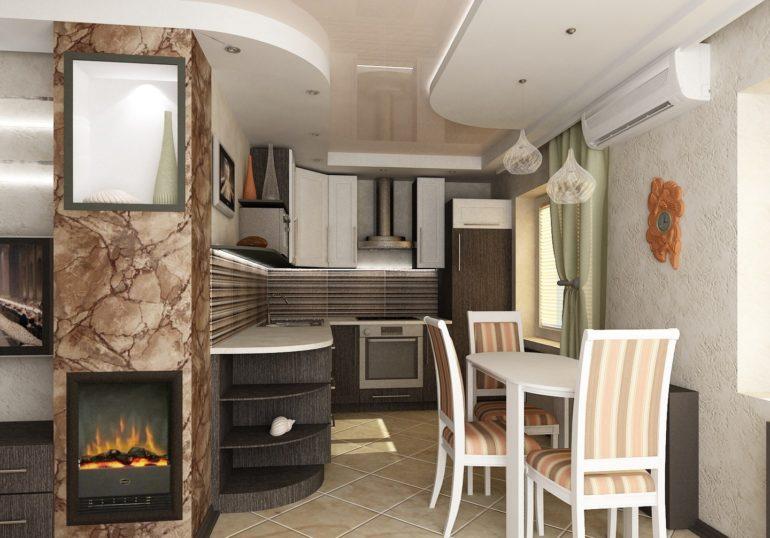 """Старую """"хрущевку"""" можно поменять на уютное гнездышко, переделав её в стильную и комфортную кухню-студию"""