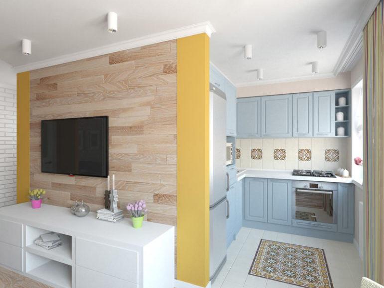 После объединения общее пространство может выполнять множество функций: быть гостиной, кухней, столовой и даже кабинетом