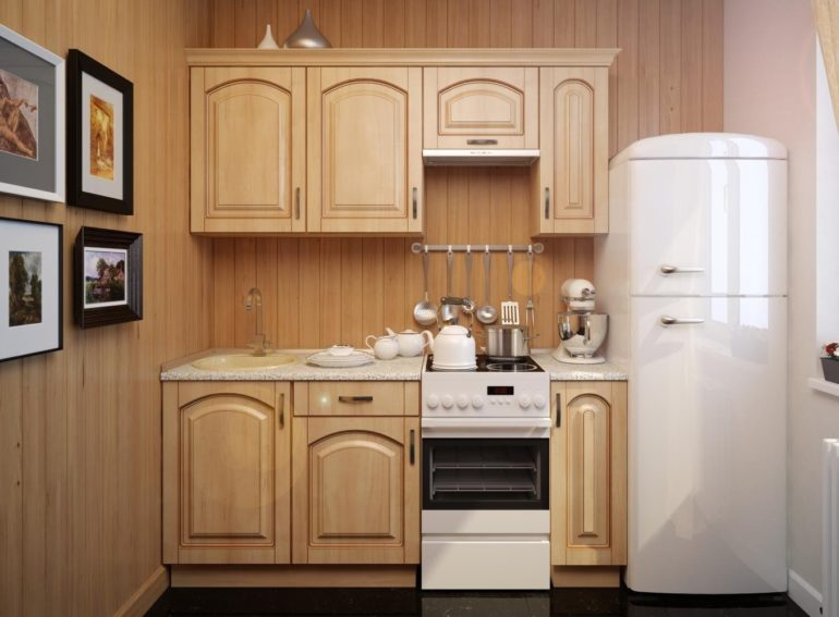 Самый узкий холодильник – спасение для маленькой кухни
