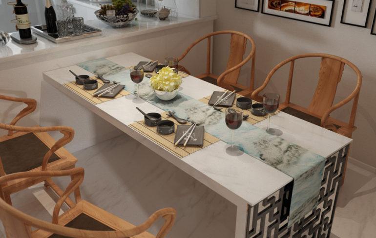 Оформление обеденного стола в восточном стиле