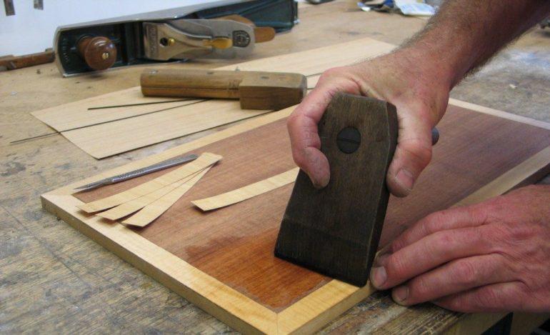 Шпонирование столешницы кухонного столика