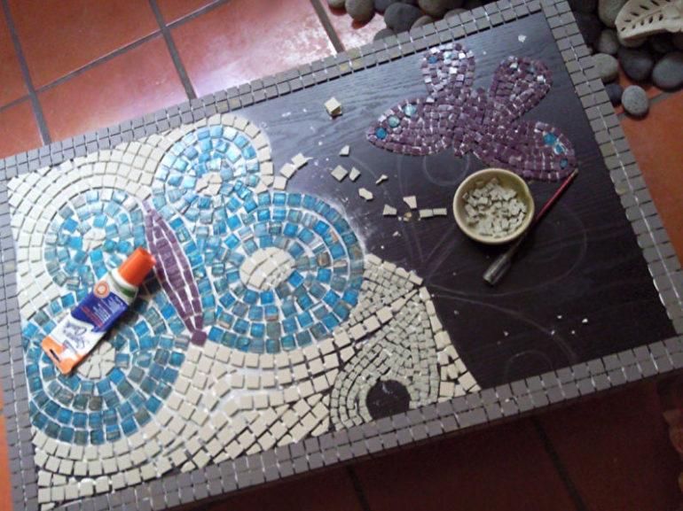Отделка столешницы мозаикой
