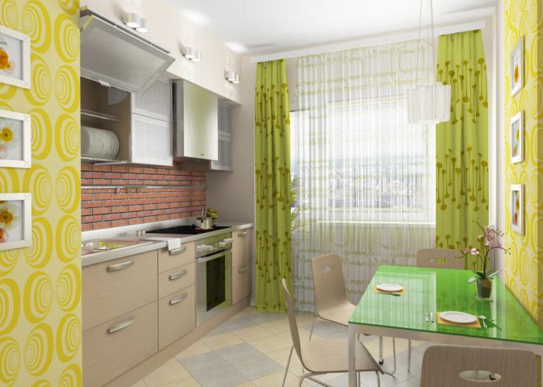Классические балконные шторы – это комплект из легкой занавески по размеру окна и пары более плотных портьер по краям