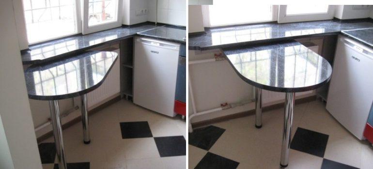 Поворотная барная стойка для маленькой кухни