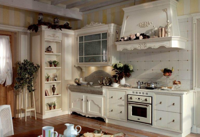 """Кухня в стиле """"прованс"""" – классика, пришедшая из европейских стран"""