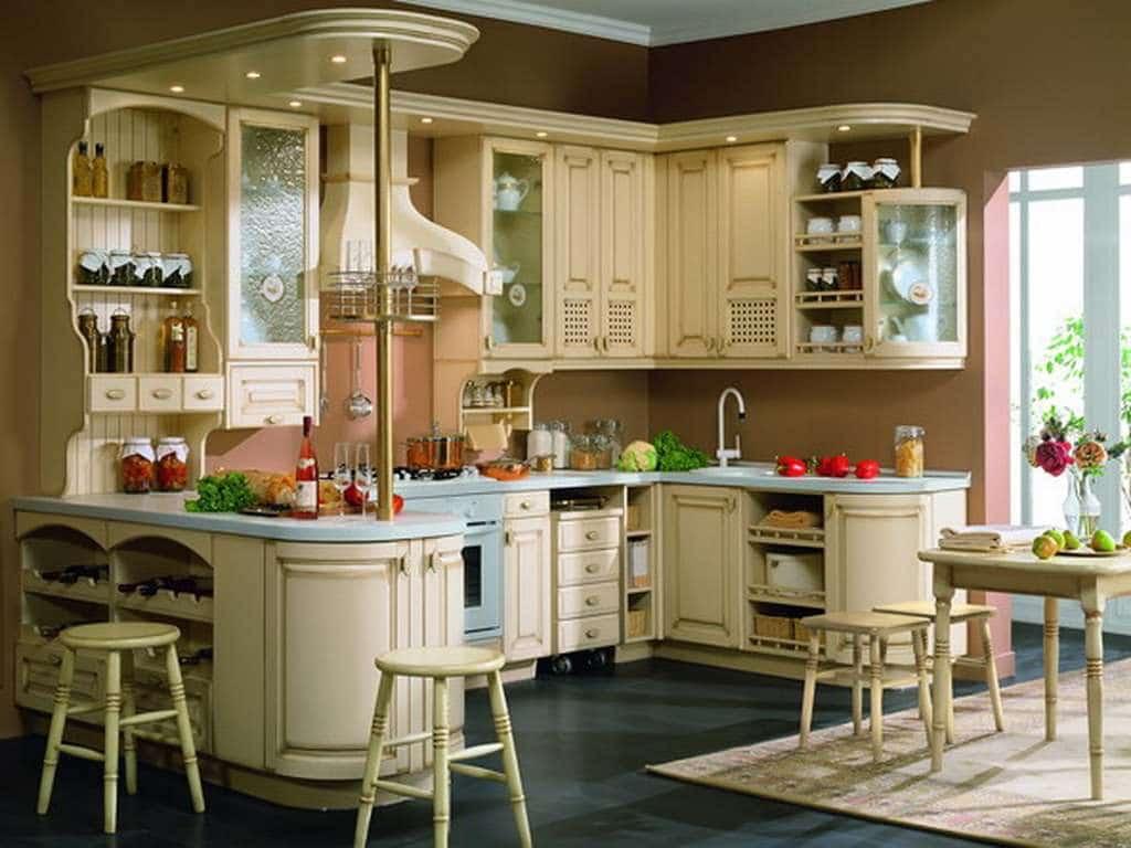 Кухня угловой планировки с барной стойкой – это отличная возможность уместить большее количество предметов на небольшой площади