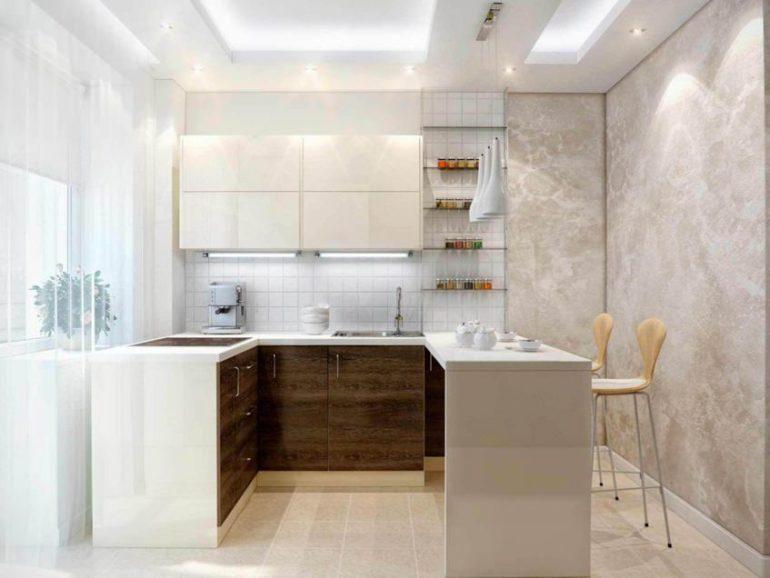 Барная стойка вровень с кухонным гарнитуром