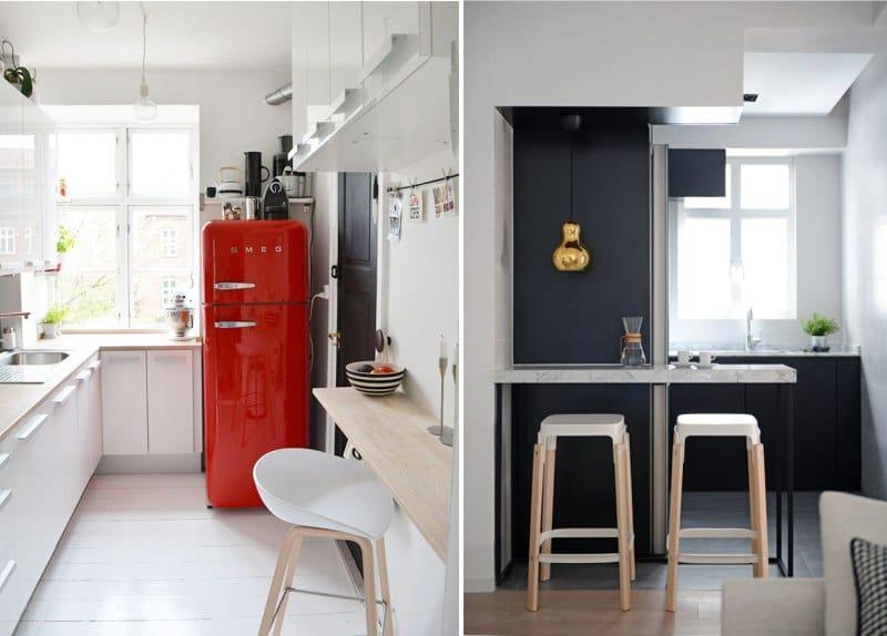 Небольшие барные стойки для узких кухонь