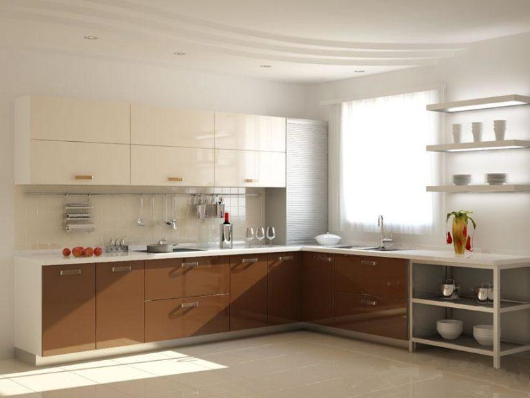Акриловые фасады добавляют кухне стильность и яркость